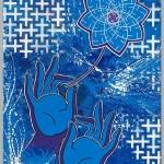 """""""Dharma.Vision"""" -->custom work --> marker and acryl on canvas --> 80*60cm"""