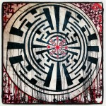 artwork on a hangarfront @FreqsOfNature Festival 2013